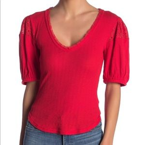 Free People Red St. James Top